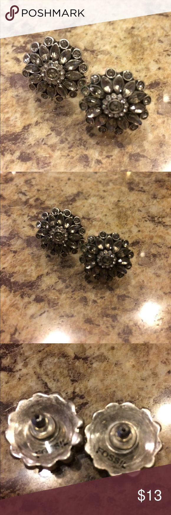 Fossil earrings Fossil earrings; about 1/2 inch in diameter Fossil Jewelry Earrings