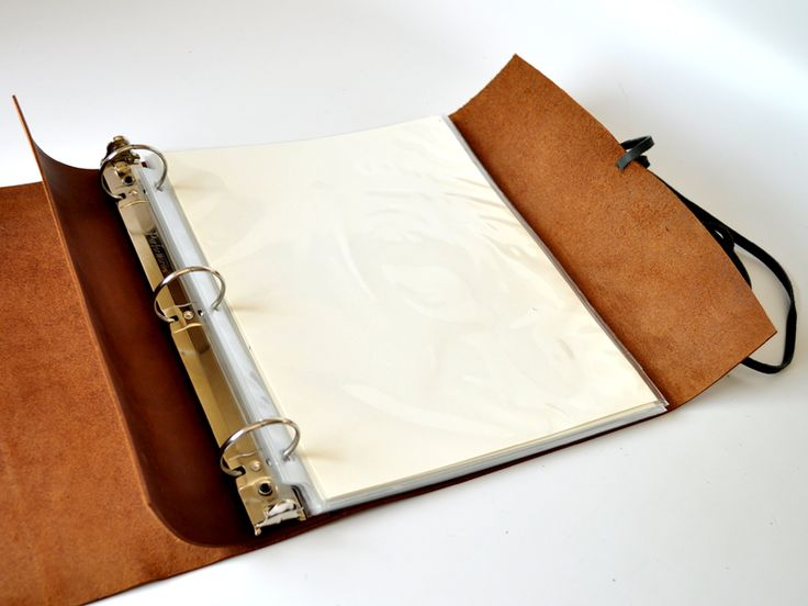 Woodsman Soft Leather 3 Ring Binder