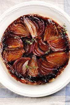 Onion Tart Tatin - Savoury tarts: Recipes for savoury tarts