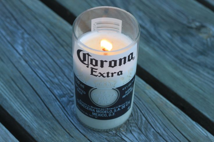 Hand Poured Soy Wax Candle in a repourposed Carona Bottle. by AdamsBottleShop on Etsy