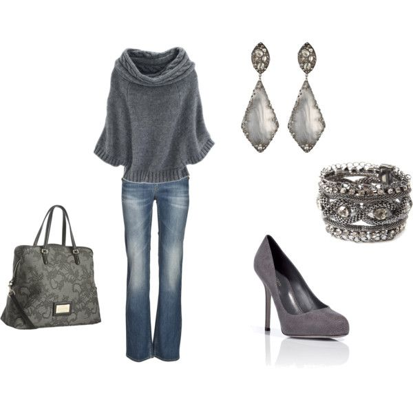 Seeater!: Date Night, Grey I, Dreams Closet, Simply Gray, Grey Lov, Fall Outfits, Simply Grey, Simple Grey, Jeans Looks