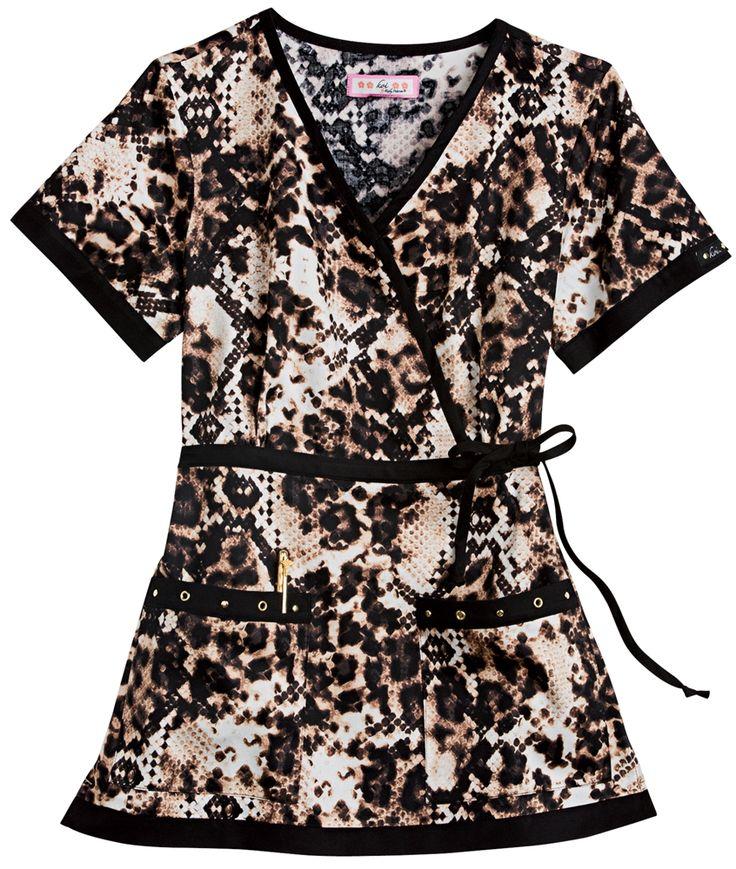 Scrubs - Koi 100% Cotton Leopard Python Melissa Scrub Top | Koi Scrubs | Brands | www.LydiasUniforms.com
