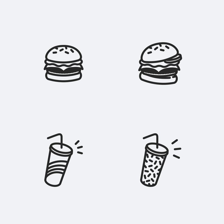Food Icons / Fast Food / Personal Project on Behance
