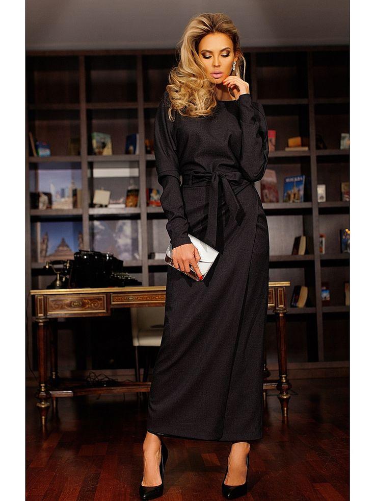 Платье Bezko. Цвет темно-серый. #платье #платья #модныеплатья #лето #офисные #летние #вечерние #накаждыйдень #нарядные #выпускные #деловые