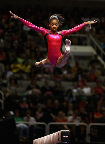 Gabrielle Douglas competes on the floor exercise beem during day 2 of the 2012 U.S. Olympic Gymnastics Team Trials at HP Pavilion on June 29, 2012 in San Jose, California.