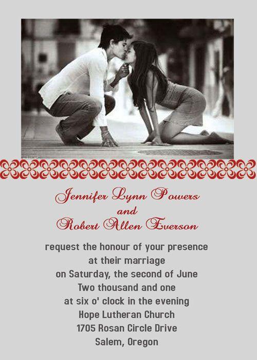 Be Born of a Couple Photo Wedding Invitations IWP015