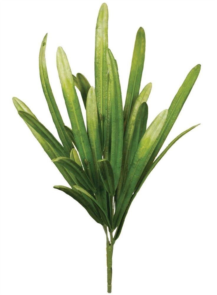 """Artificial Beard Sword Grass Pick in Green 16"""" Tall"""