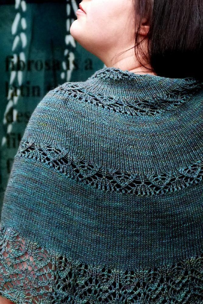 Proserpine half-circle shawl knitting pattern by Karie Westermann - Available at LoveKnitting