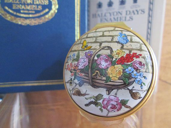 Halcyon Days Enamel Box Voltaire Candide We Must CULTIVATE