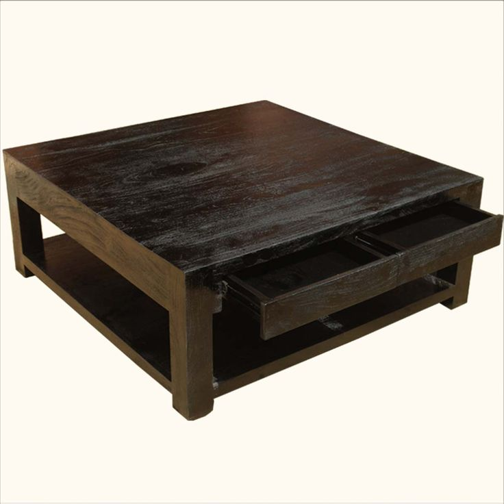 Large Rosewood Classic Square Espresso Coffee Table. 164 best Coffee Tables images on Pinterest   Coffee tables  Rustic