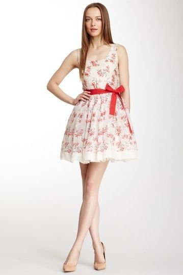 Fashion newspaper tank fuchsia dresses