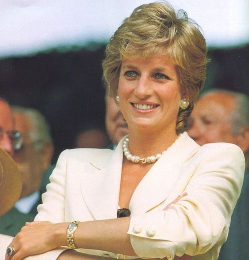 Update...identified as another: 1995: Portrait of Diana, Princess of Wales during the Lawn Tennis Championships at Wimbledon in London.