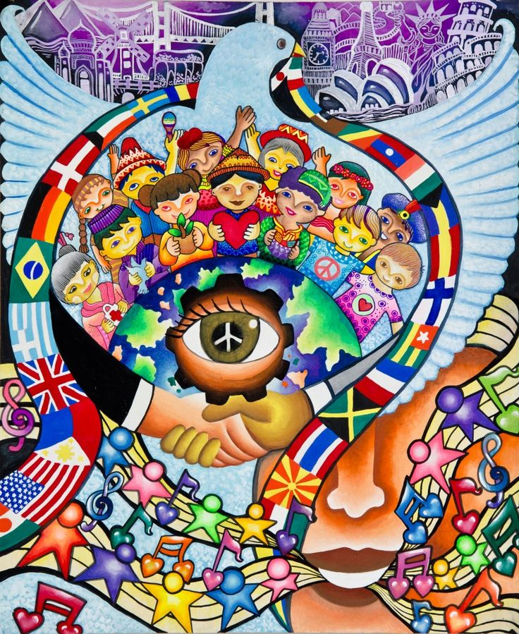 The winning poster of the Peace Poster Contest 2012.