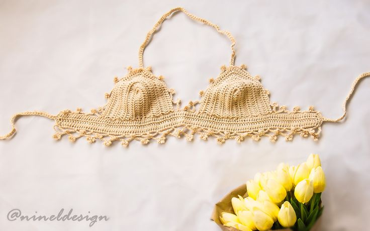 Bespoke Womens top Crochet top Crochet bikini top Fashion top Tops for women Crochet festival top Beachwear Crochet crop top Bohemian top by NinElDesign on Etsy