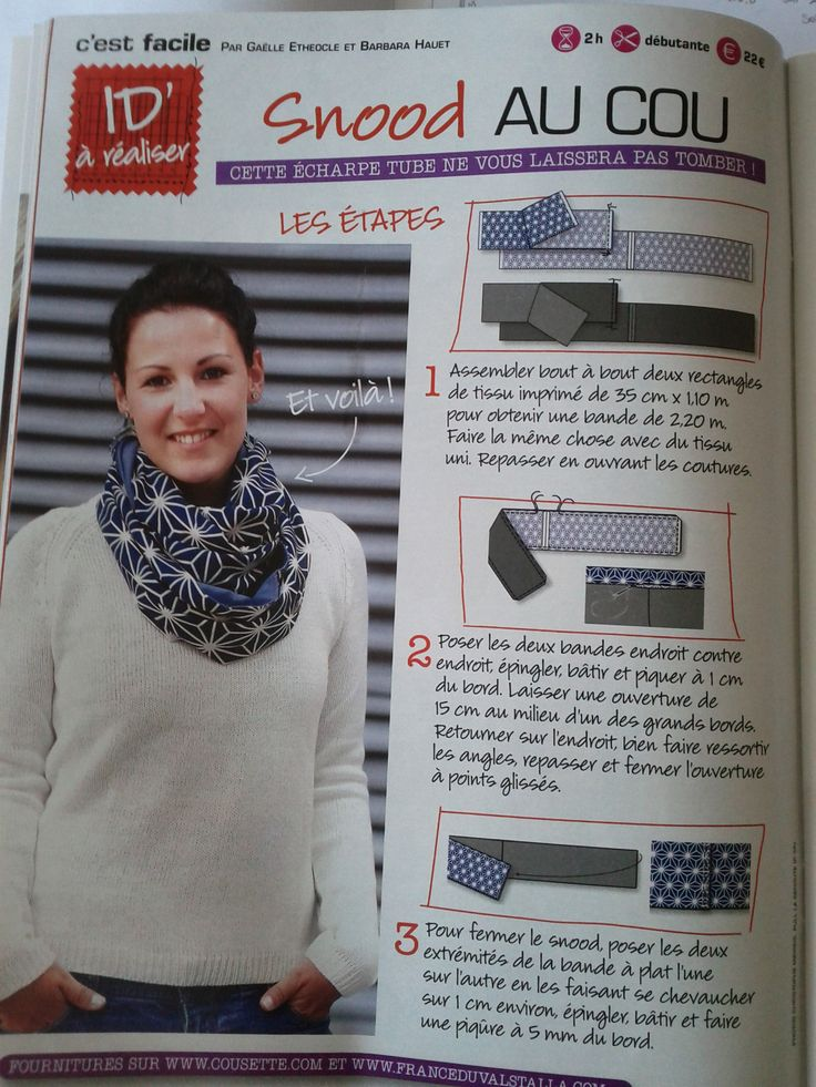 Le snood le plus facile...des explications