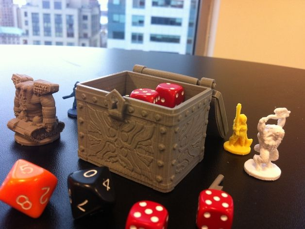 Tresure Chest Dice Case by dutchmogul - Thingiverse