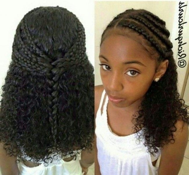 Protective Hairstyles 224 Best Cute Protective Styles For Little Girls Images On Hair Styles Braided Hairstyles For School Natural Hair Styles