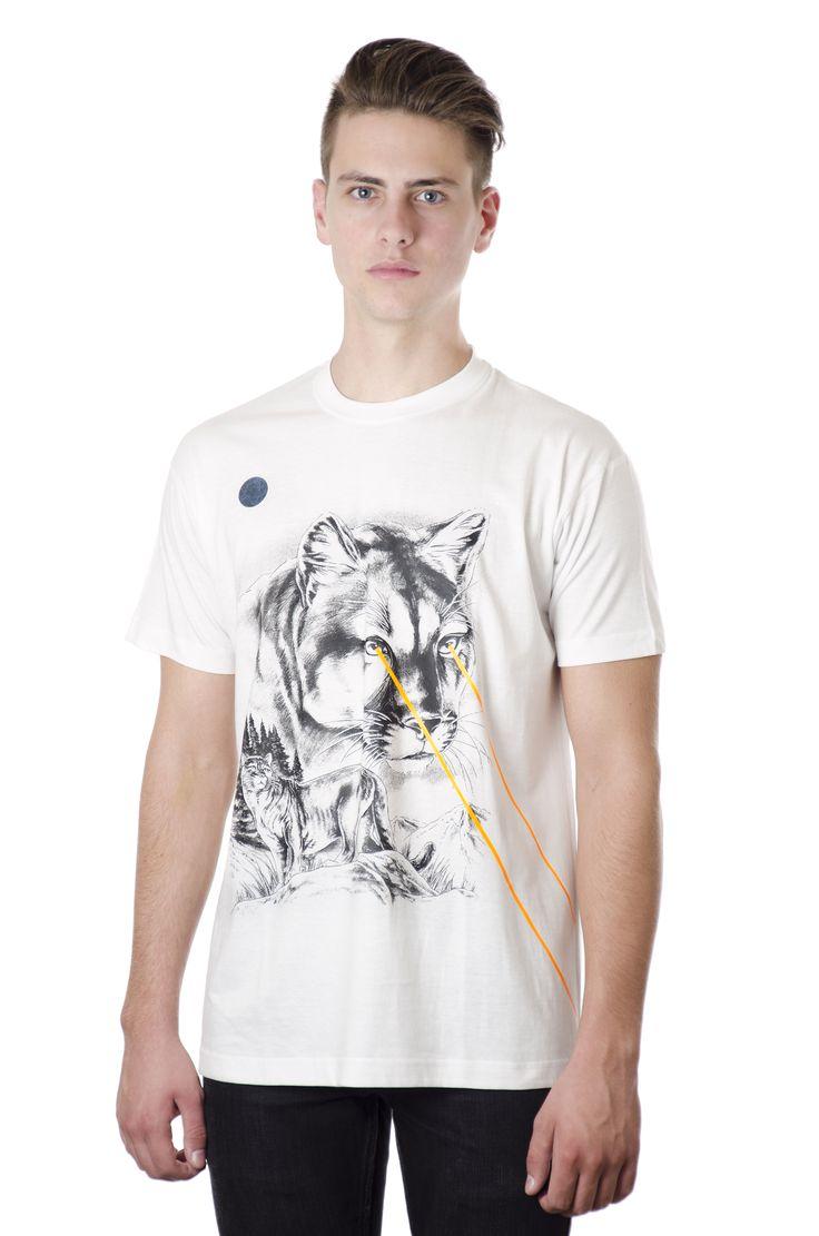 Unisex White Tshirt / Design: Cougar