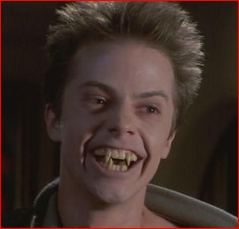 "Other than Jerry Dandrige who's the main villain in Fright Night, the secondary antagonist is Ed Thompson (a.k.a.""Evil Ed""). Evil Ed's role in the film starts as being an outsider who also happens to be Charlie's best friend, but after a while Jerry focuses on and exploits Ed's weakness as an outsider and uses it to his advantage. After turning Ed into a vampire, Jerry has Ed go after vampire hunter Peter Vincent. In the end Ed sadly dies."