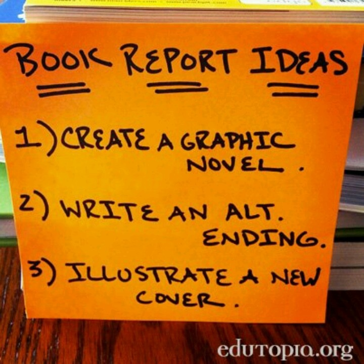 Art book report ideas for 7th