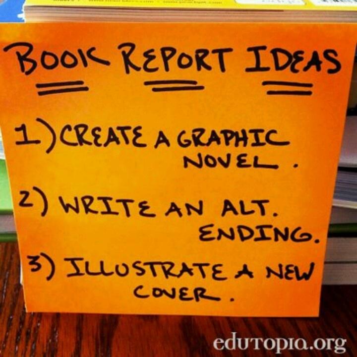 Alternative book report options