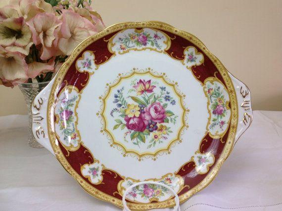 Royal Albert Lady Hamilton Handled Cakeplate
