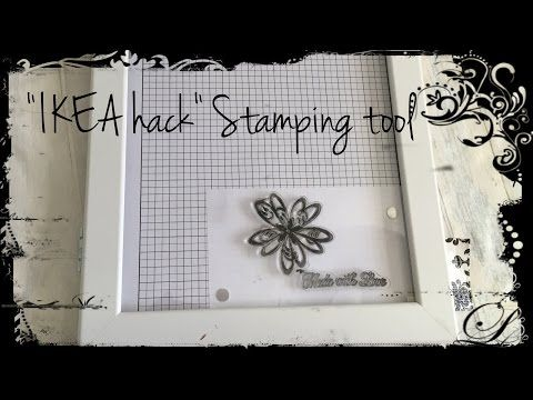 IKEA Hemmingsbo Frame as Stamping Tool HACK - It Stamps Right out of the Package! - YouTube