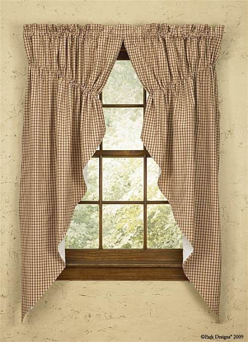 Country Curtains   I want these for my windows in my cabin ,,,different color