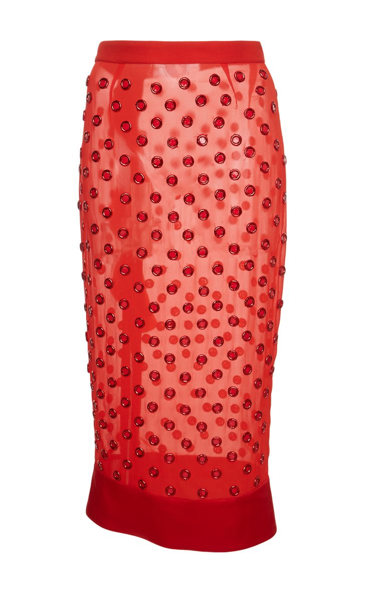 Grommet Embellished Organza Skirt by GIVENCHY for Preorder on Moda Operandi