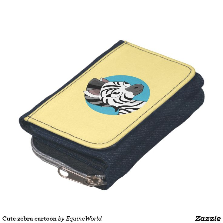Cute zebra cartoon wallets
