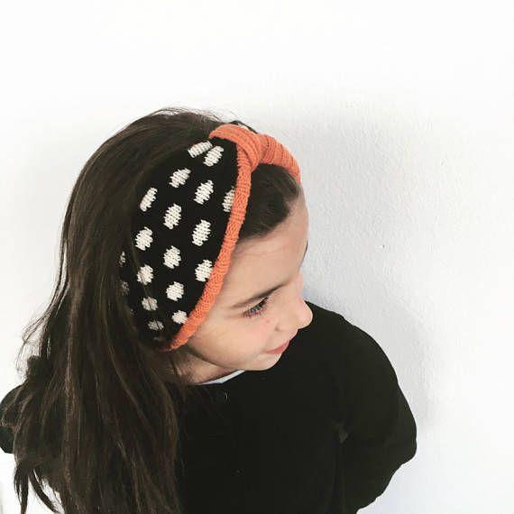 Girls Headband, Knitted Headband, Knit Hairband, Knit Earwarmer, Winter Headband.