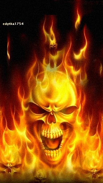 Animated Flaming Skull | Download fire skull Wallpaper