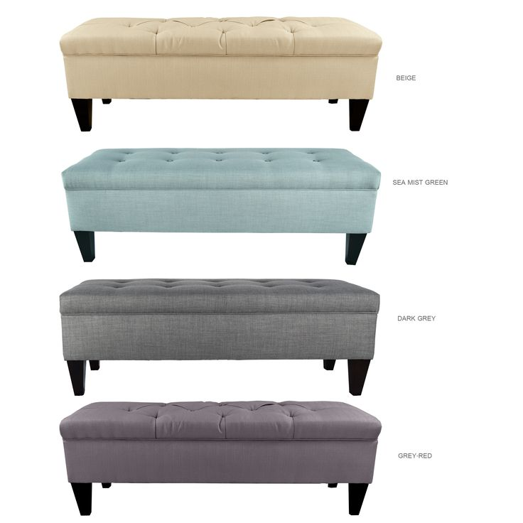Add comfort to your living with the Button Tufted Upholstered Storage Bench. This beautiful bench is a combination of style and practicality that will be a great and functional accent piece for any space.