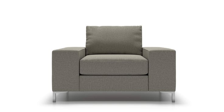 Tova Arm Chair in Grey Goose Fabric  by Kavuus.com (Made in Canada)