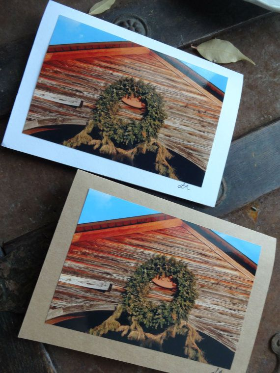 Photo Note Cards: Christmas in Old Salem by TheFoxesTail on Etsy