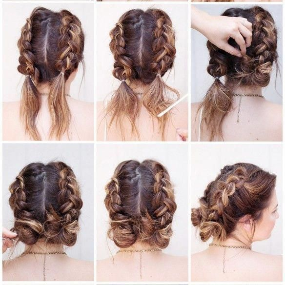 tutorial tuesday, braids, tutorials, beauty blogger, sunkissed and madeup, summer tutorial, pinapples, messy bun, pigtails, french braid #messyBraided