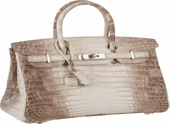 limited edition Hermès Himalaya Matte Crocodile Birkin bag is  one of a kind.  It will  be auctioned at Heritage Auction and is expected to fetch $ 55000- $ 80,000
