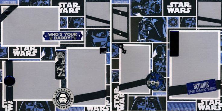 Star Wars scrapbook layout