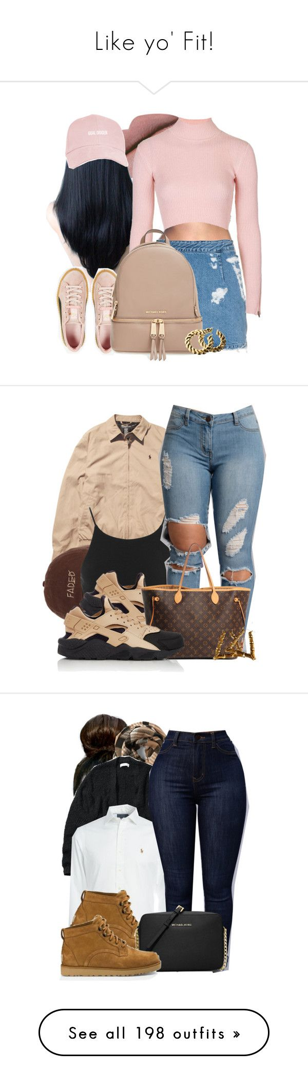 Like yo Fit! by hellacurlz2000 ❤ liked on Polyvore featuring Acne Studios, Puma, Topshop, MICHAEL Michael Kors, HM, Ralph Lauren, Miss Selfridge, NIKE, Louis Vuitton and Abercrombie Fitch