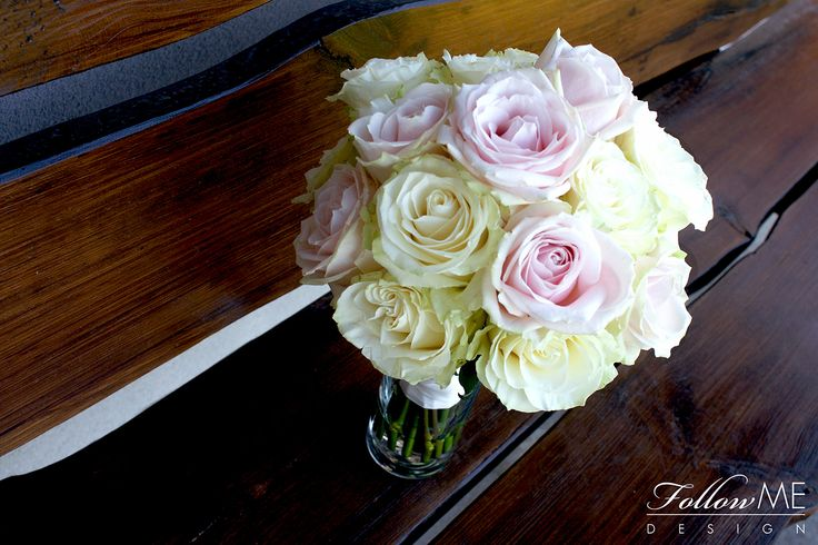 Bukiet ślubny z róż / Eleganckie białe dekoracje ślubne od FollowMe DESIGN / Wedding Roses Bouquet / Elegant White Wedding Decorations & Details by FollowMe DESIGN