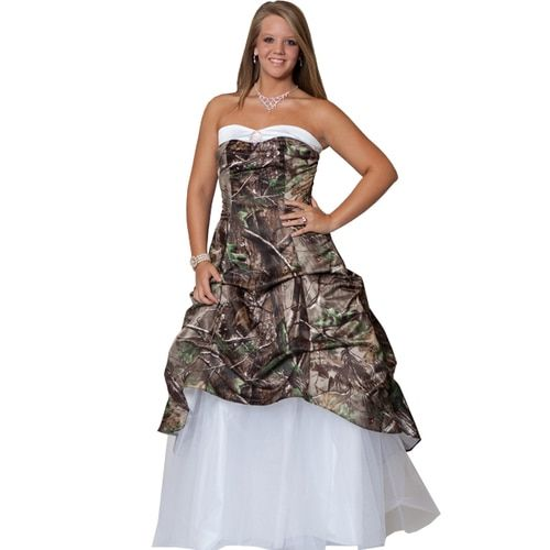 00d13606669d6 Realtree Camo Wedding Gown with Detachable Train in 2019 | Realtree ...