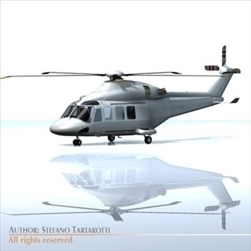 AW-139 3D Model-   Agusta Westland AW139 no texture.Only cinema4d R10 has materials.Polygons 11193Vertices 11875Side rescue winch can be removed.doors can not be opened.The AgustaWestland AW139 is a 15-seat medium sized twin-engined helicopter manufactured by AgustaWestland. The AW139 is powered by two Pratt  Whitney PT6C turboshaft engines. The helicopter is being marketed for use in a number of roles including Law EnforcementEmergency Medical Service, Executive Transport, Search and…
