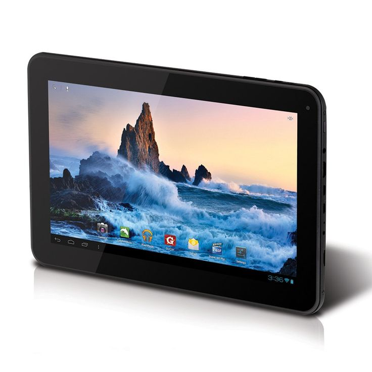 Hip Street Equinox1 - HS-10DTB1 - 4GB 10-Inch Tablet (Black). Android 2.3 Ice Cream Sandwich, 10 inches Display. All winner A2 @ 1.0 GHz. 0.5 GB RAM Memory. 802_11_A wireless.