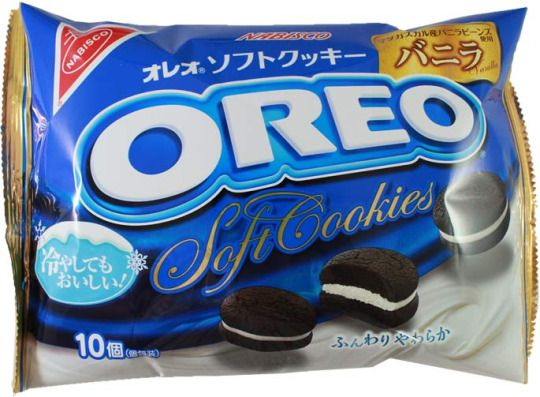 Nabisco Oreo Soft Cookies — Original Vanilla $5.00 http://thingsfromjapan.net/nabisco-oreo-soft-cookies-original-vanilla/ #Japanese oreo #Japanese cookie #Japanese snack