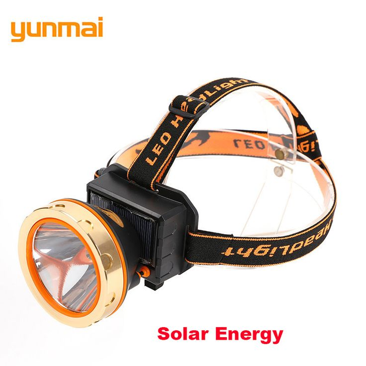 Solar Energy USB Interface Headlamp XPG/R5 LED Mining Headlight Bulit-in Battery Powerful Rechargeable Head Lantern Bike Lampe #Affiliate