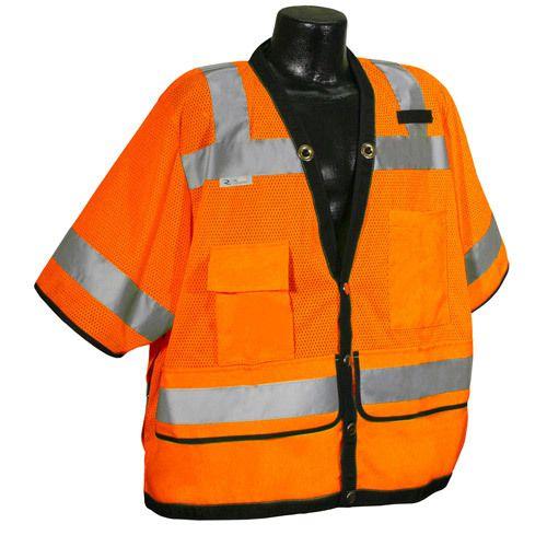 Radians Hi Vis Orange Heavy Duty Surveyor Vest Class 3 SV59-3ZOD