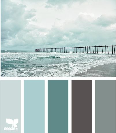 A grey day at the beach color palette. Grey is beautiful!