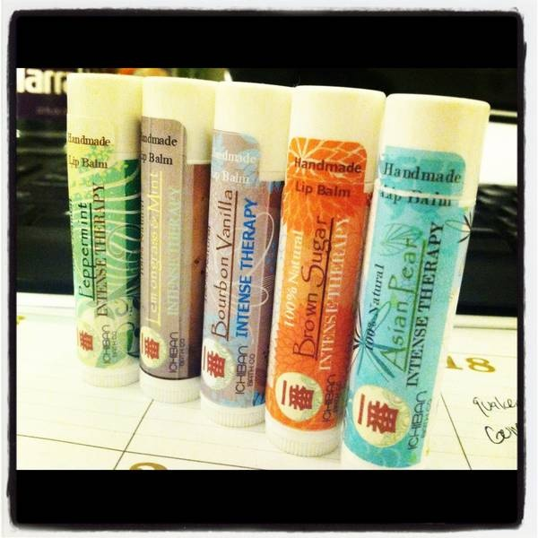 "Ichiban's Intense Therapy Lip Balm Labels.  Label Size: 2.125"" x 2.125"""