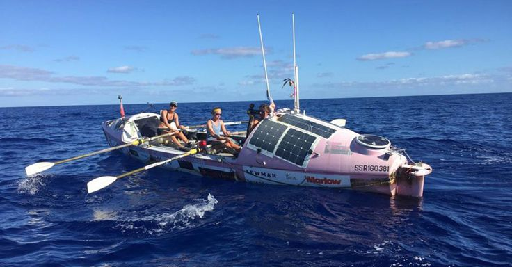 After a gruelling battle with the elements, the Coxless Crew made history as the first all-female rowing crew to cross the South Pacific Ocean.