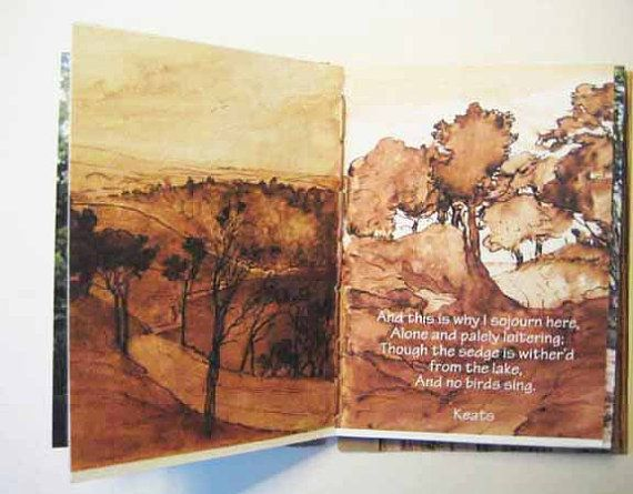 Artist  hand bound book. Tree Book coptic stitch by modestly, £18.00